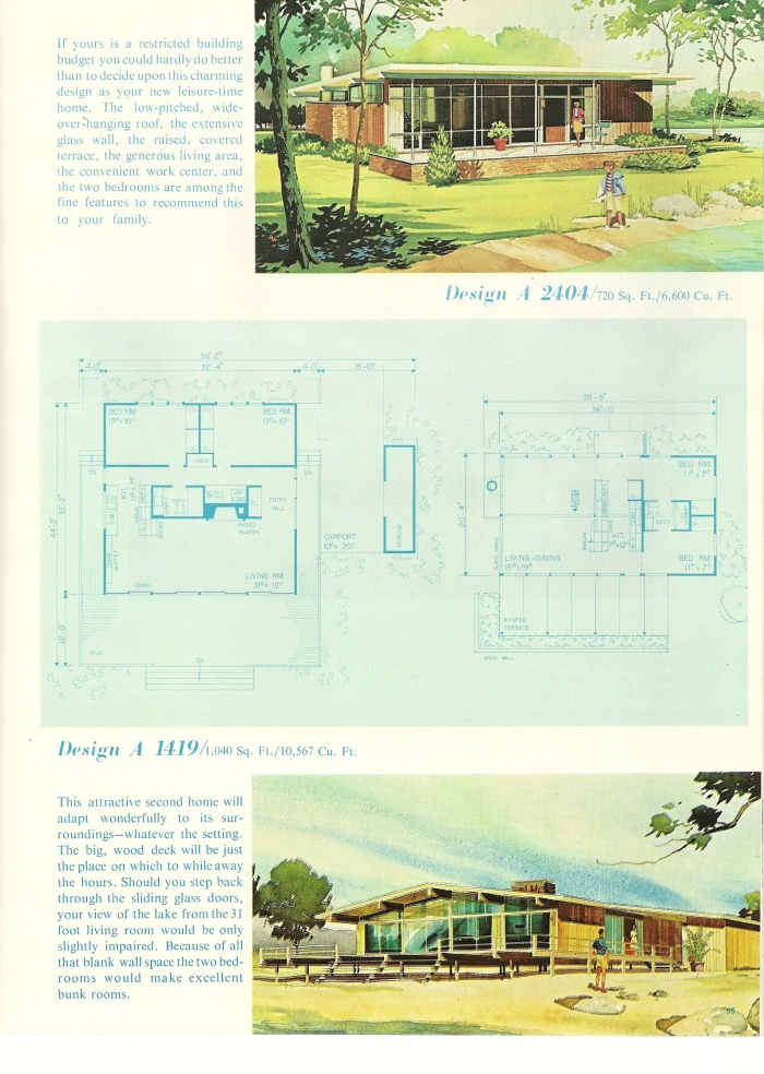 vintage house plans 1960s cottages and second homes