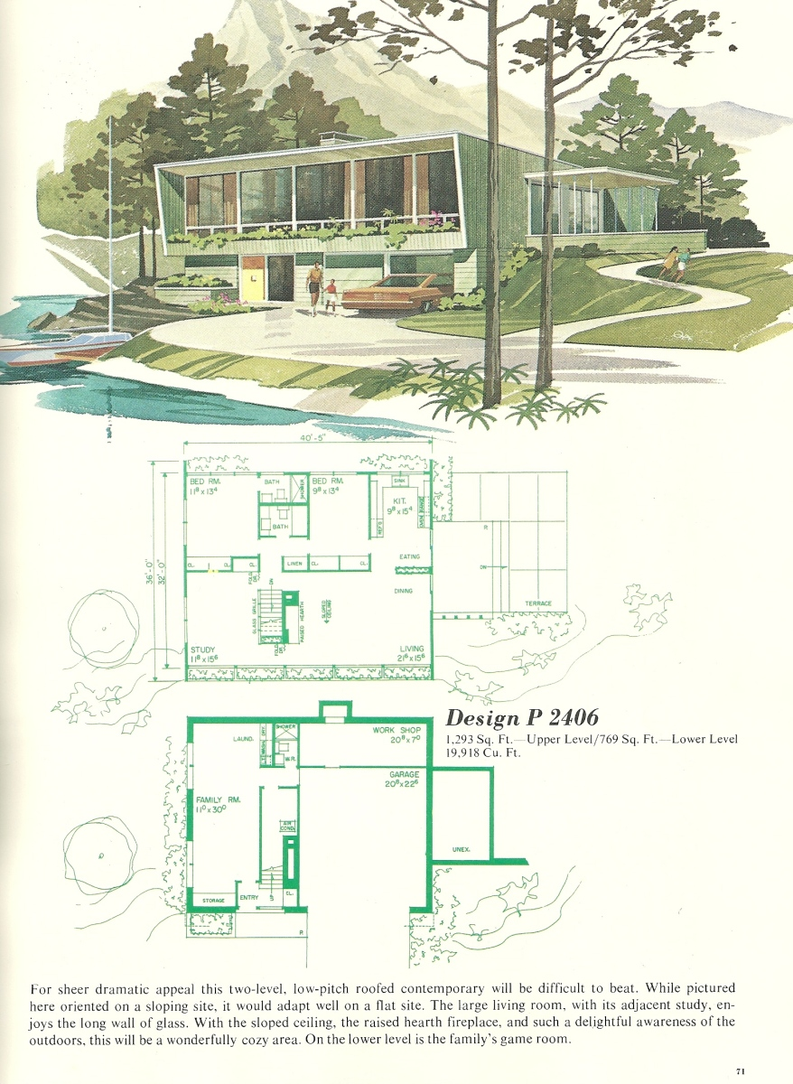 Vintage vacation homes 2406 antique alter ego for Vacation floor plans