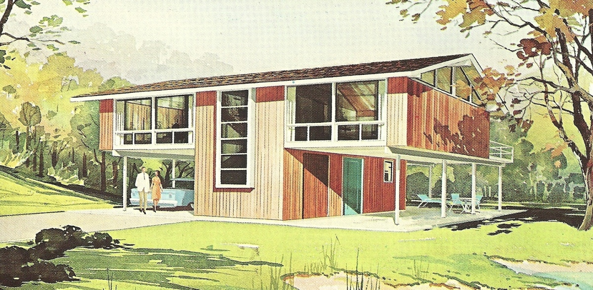 Vintage house plans 1960s vivacious vacation homes for 1960 s home plans