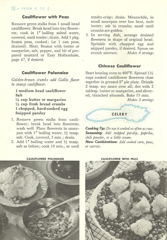 veggie recipes, vintage vegetable recipes
