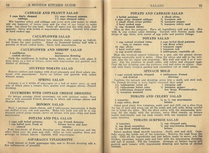 vintage salad recipes, 1940s salad recipes, victory gardens