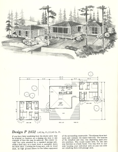 Vintage House Plans, Cluster Units