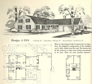 vintage house plans gambrel roof