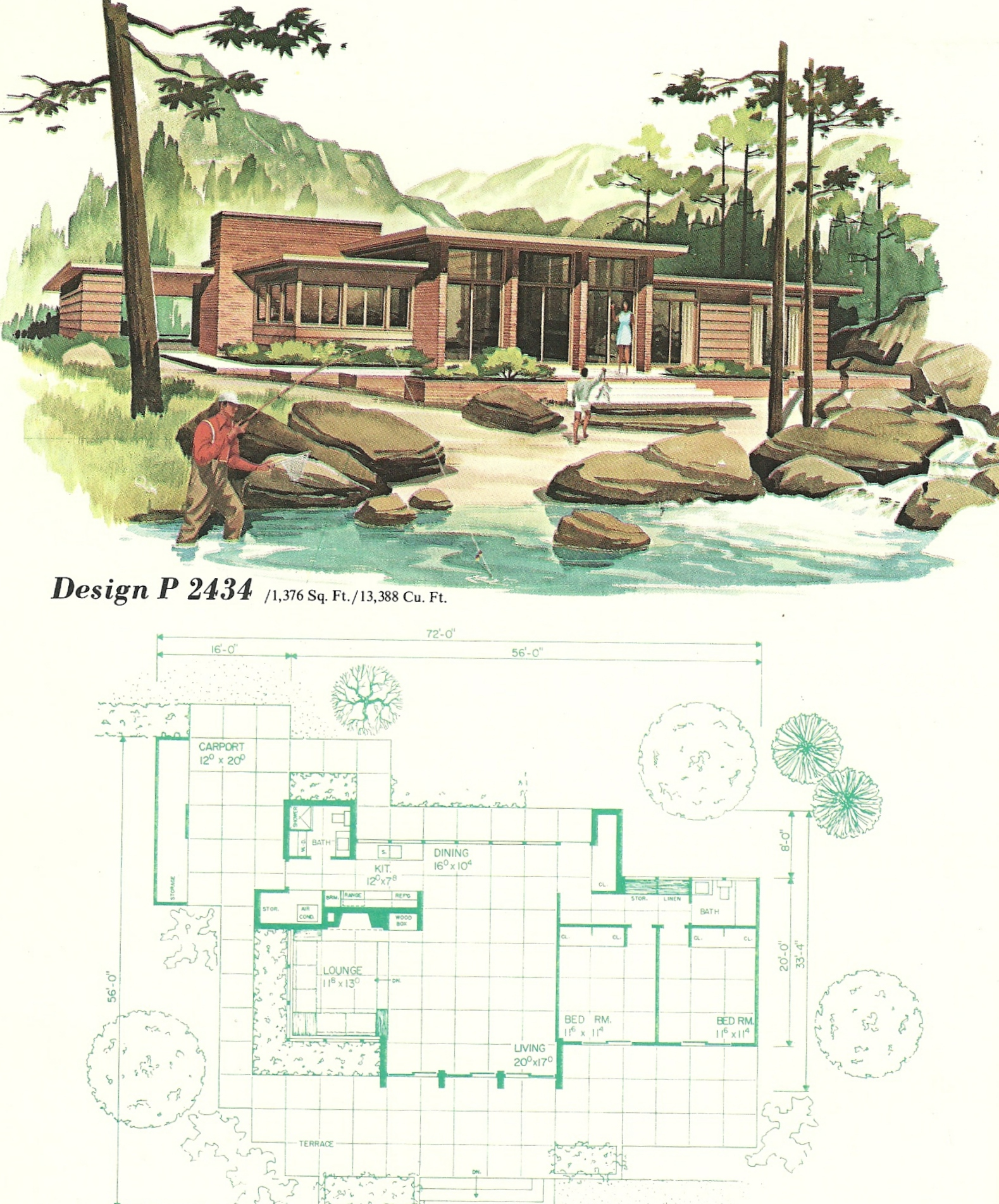 Vintage house plans 2434 antique alter ego for 1960 s home plans