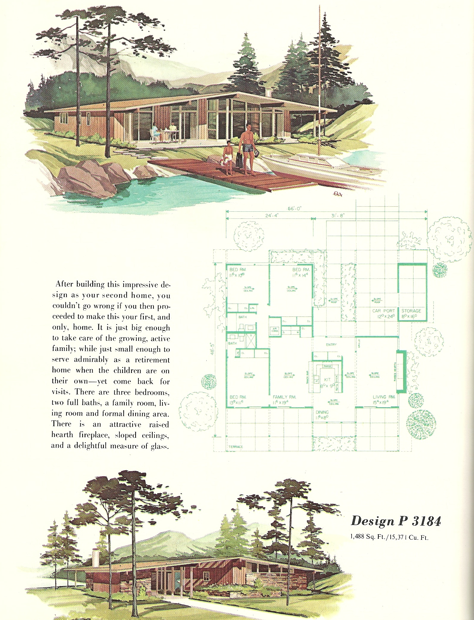Vintage house plans 3184 antique alter ego for 1960 s home plans