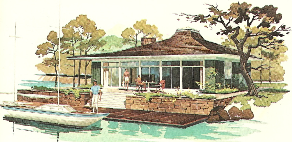 Vacation House Summer Getaway Holiday Home Design: Vintage House Plans 1960s: Fun Vacation Homes