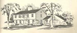 Vintage House Plans, 1970s homes, New England Salt Box