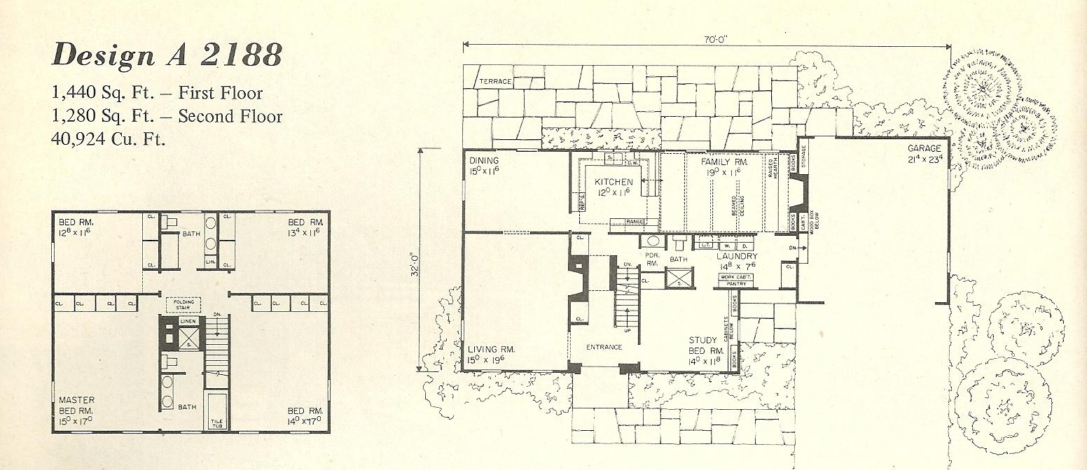 Vintage house plans salt box 2188a antique alter ego for Box design house plans