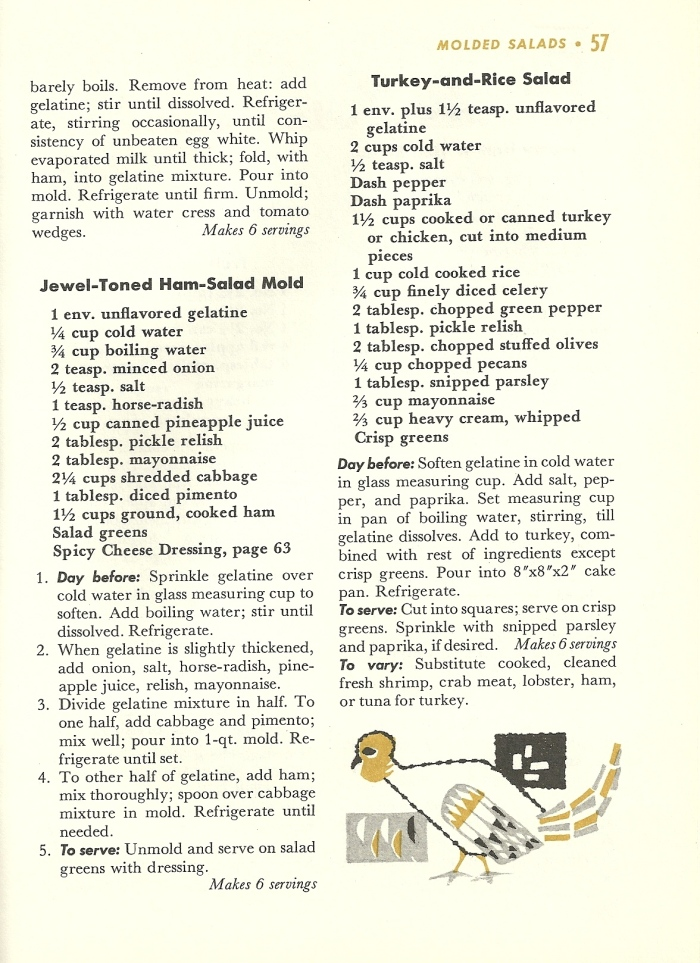Vintage Recipes, Molded Salads