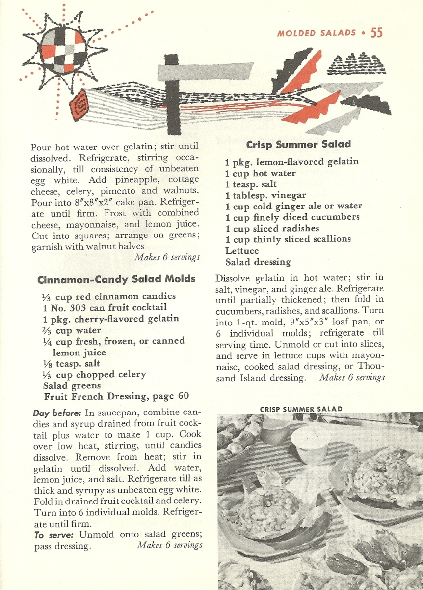 Vintage Recipes, Molded Salads