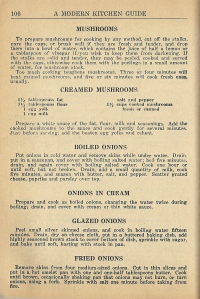 Vintage Vegetable Recipes 1946