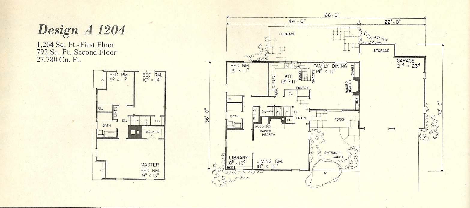 Vintage House Plans 1204a Antique Alter Ego
