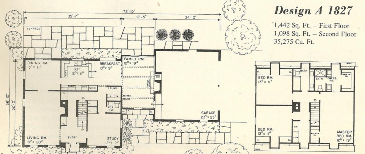 Vintage House Plans 1827a Antique Alter Ego