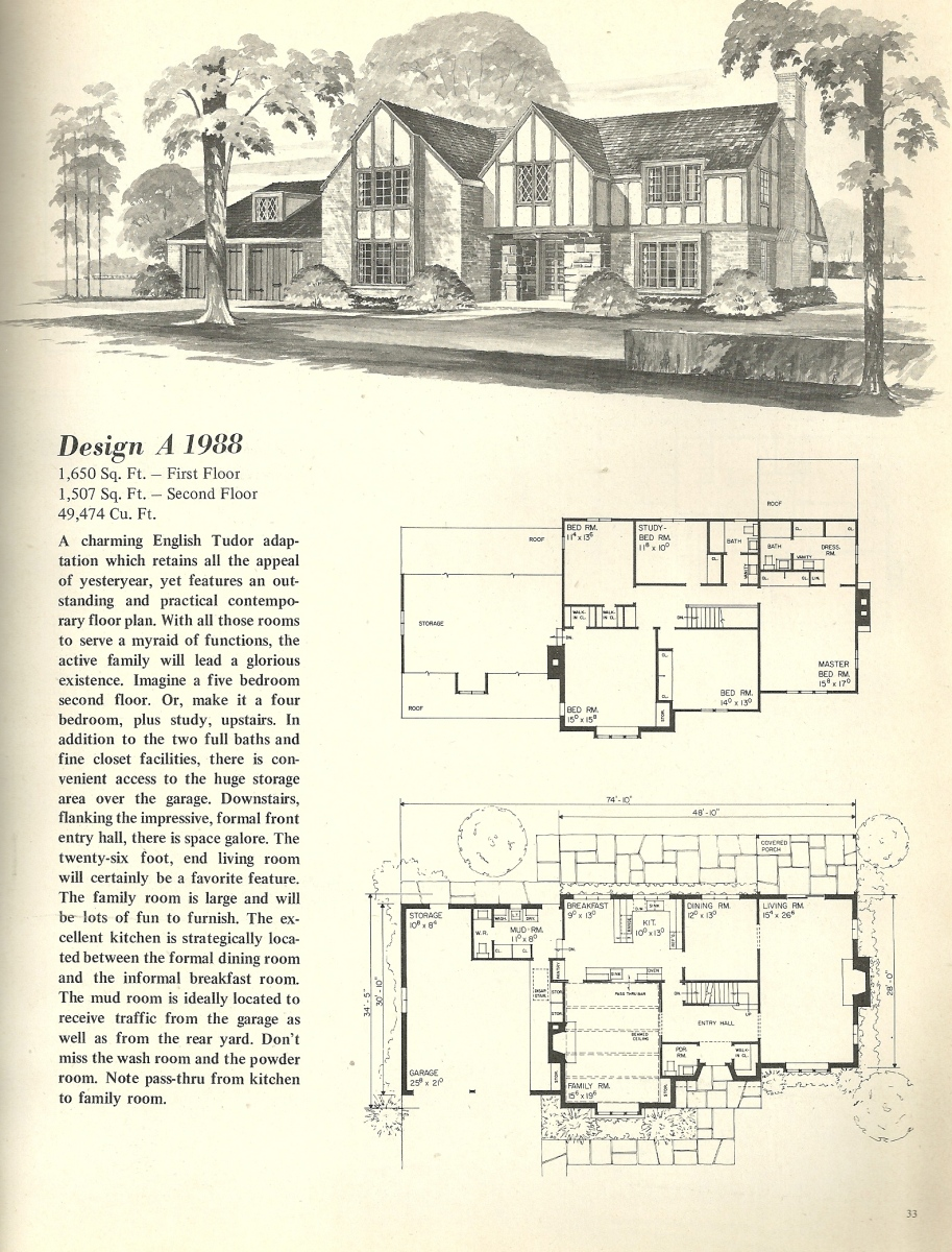 Vintage house plans 1988 antique alter ego for 1970s house floor plans