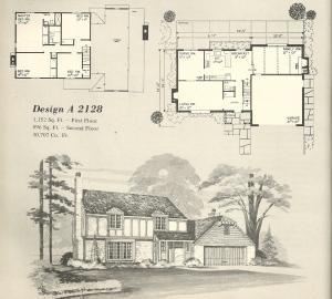 Vintage House Plans, 1970s homes, Tudor style