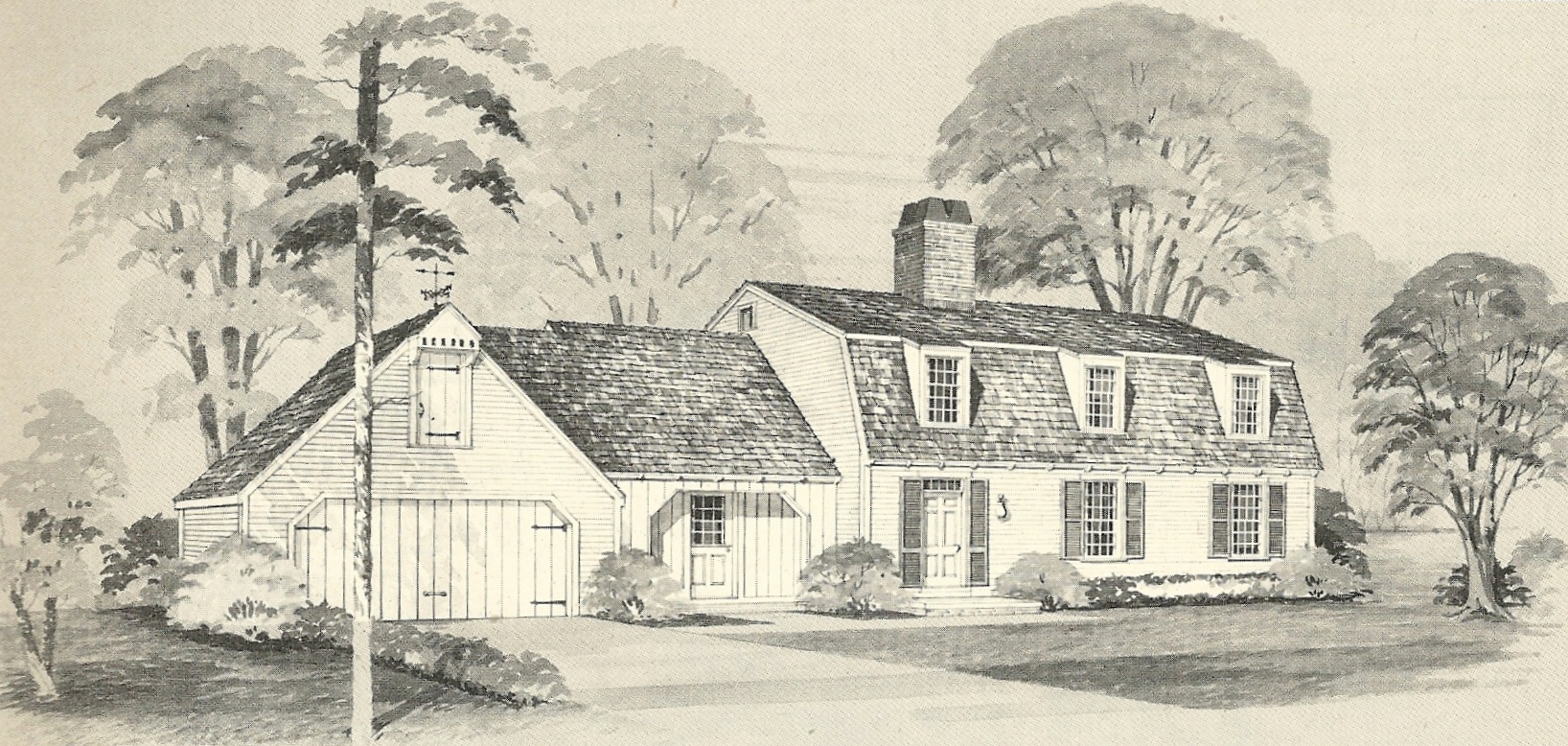 Vintage house plans 2131 antique alter ego for New england house designs