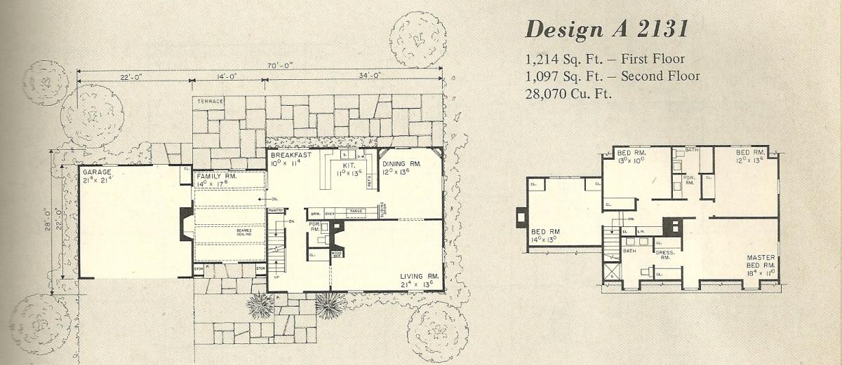 Vintage House Plans 2131a Antique Alter Ego