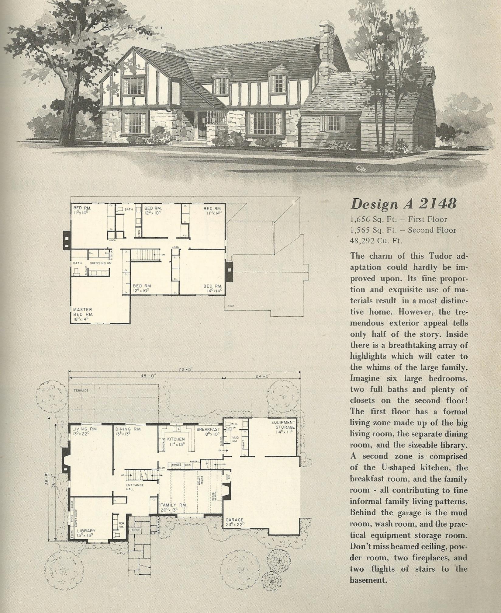 Vintage house plans 2148 antique alter ego for Antique house plans