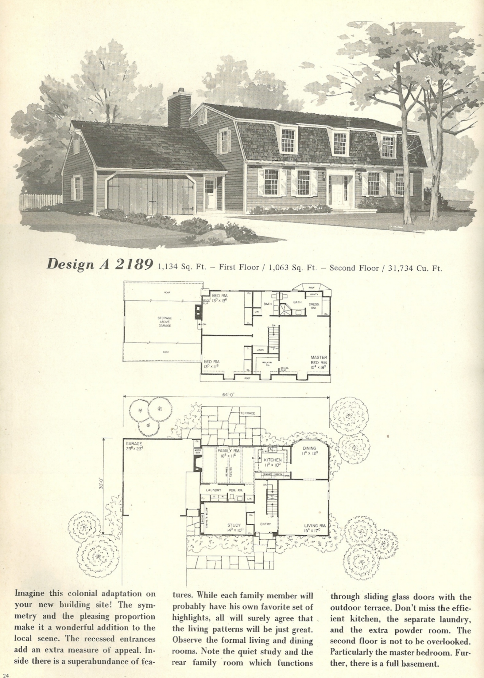 Vintage house plans 2189 antique alter ego for Vintage home plans
