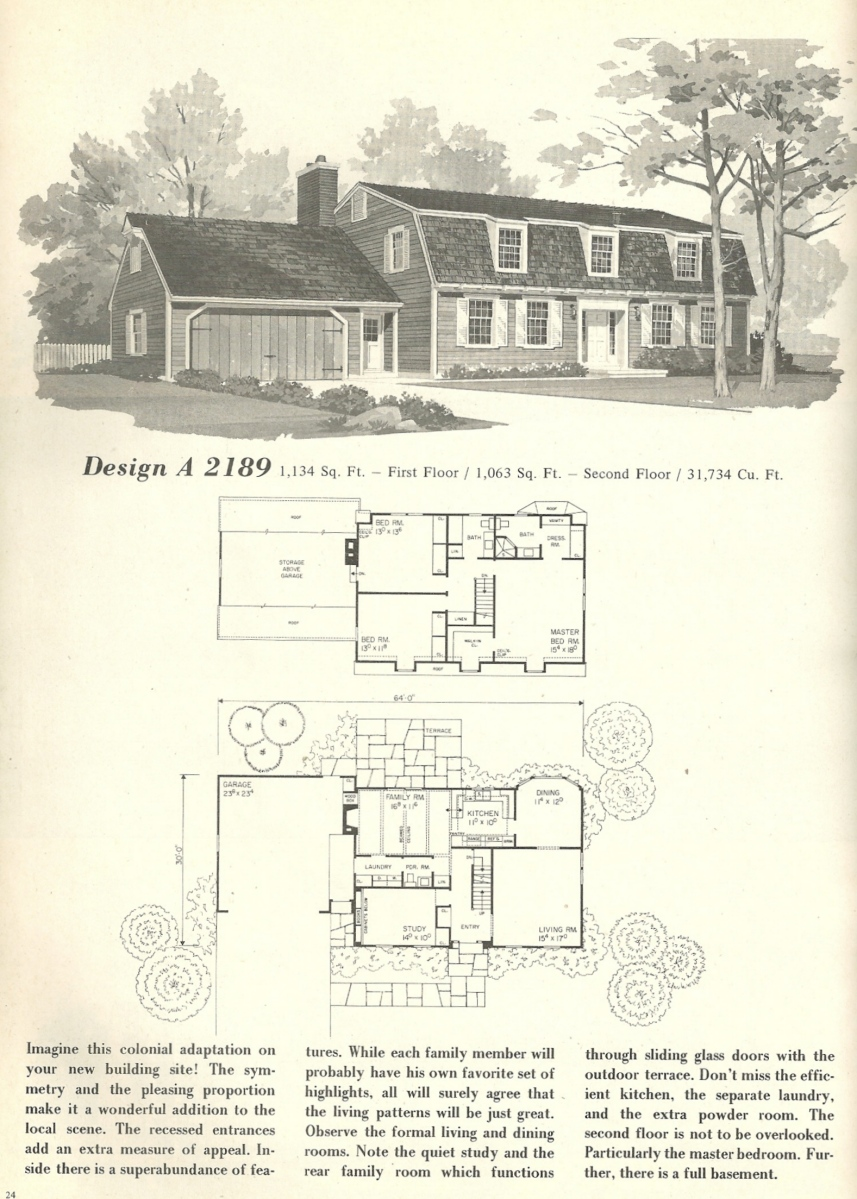 Vintage house plans 2189 antique alter ego for New england homes floor plans