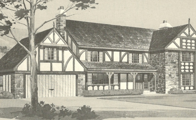 Vintage house plans 1970s english style tudor homes for Tudor house plans with photos