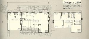 Vintage House Plans 2239a