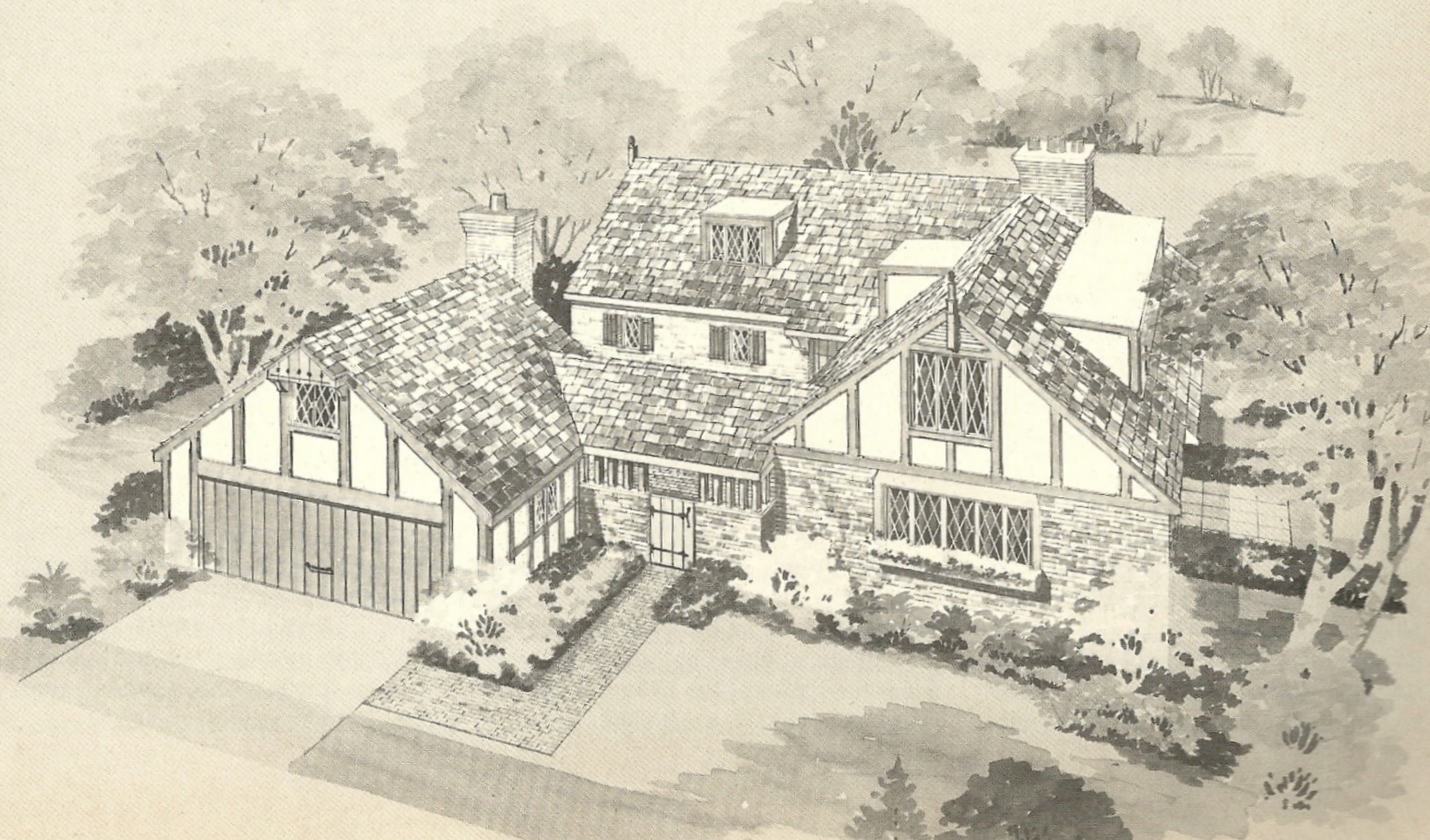 Old english tudor house plans for Historic tudor house plans