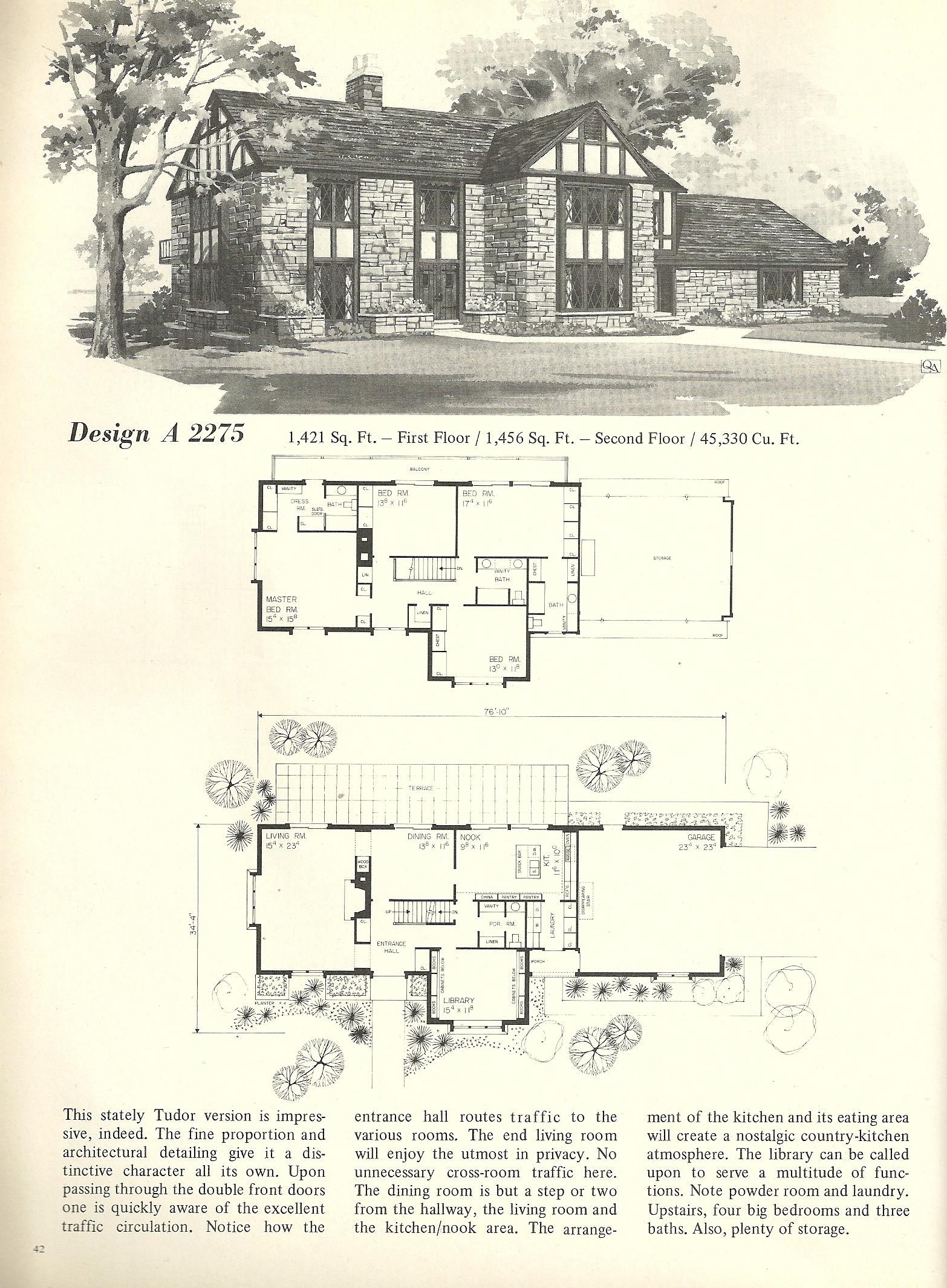 Vintage House Plans 2275 | Antique Alter Ego