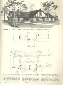 Vintage House Plans, 1970s homes, tudor style