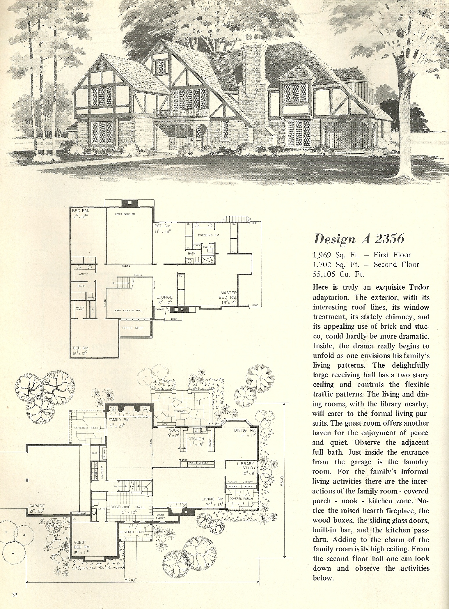 Vintage house plans 2356 antique alter ego for Tudor home plans