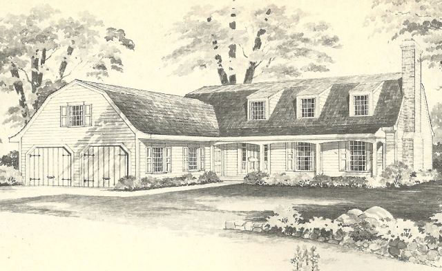 Vintage House Plans 1970s New England Gambrel Roof Homes