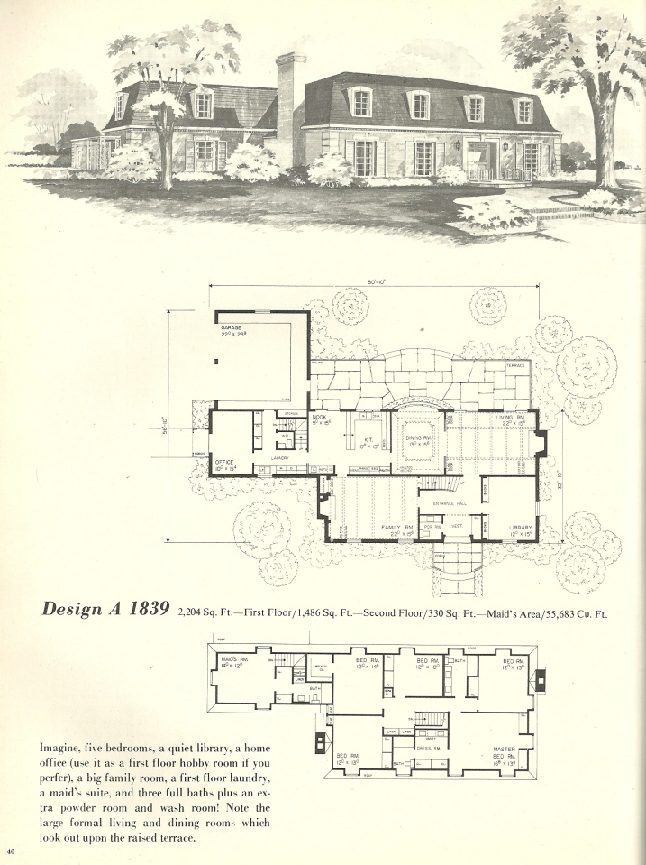 Vintage House Plans French Mansards 2 Antique Alter Ego