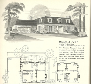 Vintage House Plans, Vintage Homes, French Mansards