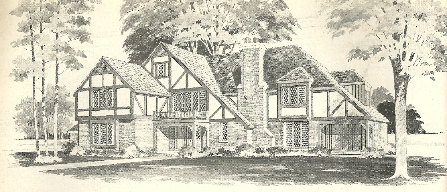 Vintage house plans 1970s english style tudor homes for Tudor home plans