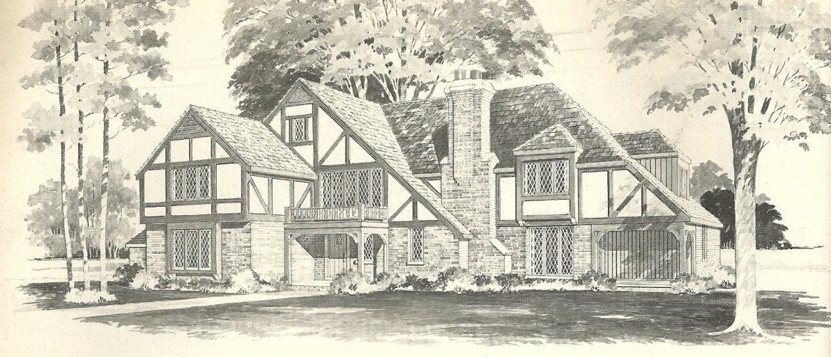 Vintage House Plans 1970s English Style Tudor Homes Antique Alter Ego