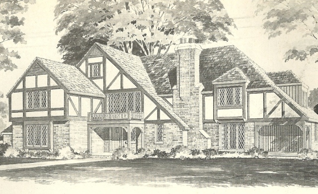 Vintage House Plans 1970s English Style Tudor Homes