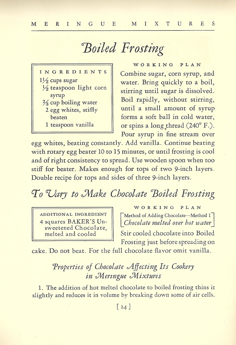 1934 Chocolate Recipes General Foods