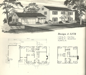 Vintage House Plans 1970s Early Colonial Part 1 Antique Alter Ego