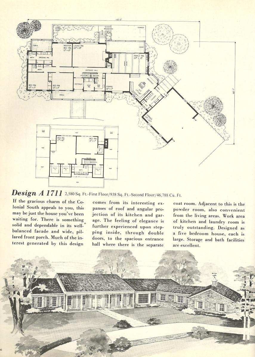Vintage House Plans 1711 Antique Alter Ego