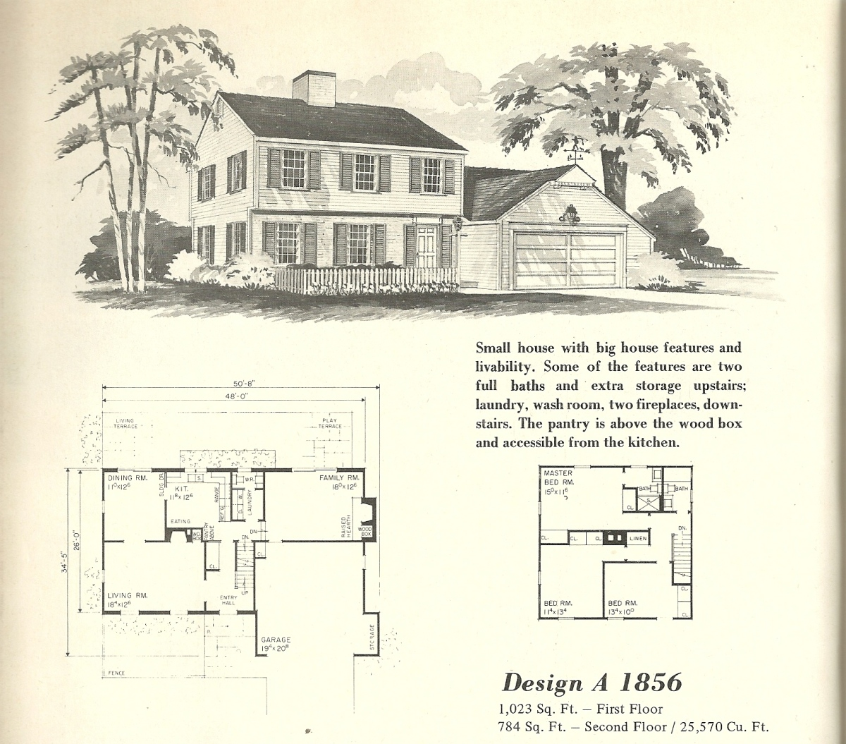 Vintage House Plans, Early Colonial