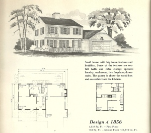 Vintage house plans 1970s early colonial part 2 antique for Antique colonial house plans