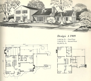 Vintage House Plans 1970s Early Colonial Part 1 Antique