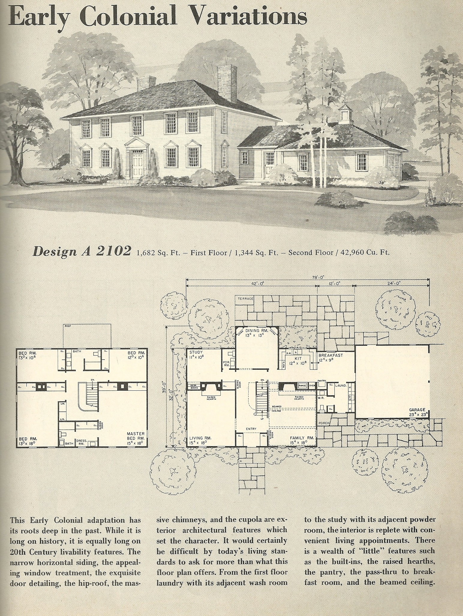 Vintage house plans 2102 antique alter ego for Antique farmhouse plans
