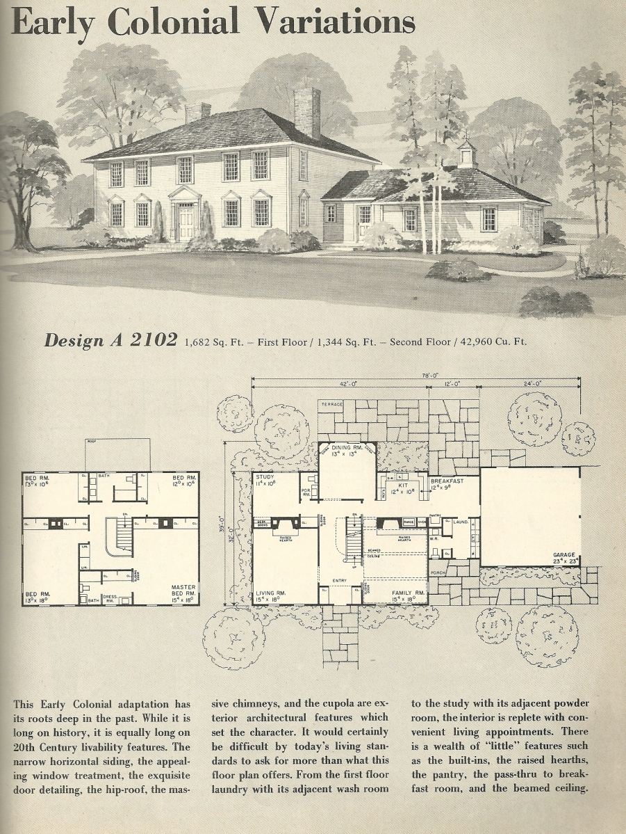 Vintage House Plans 2102 Antique Alter Ego