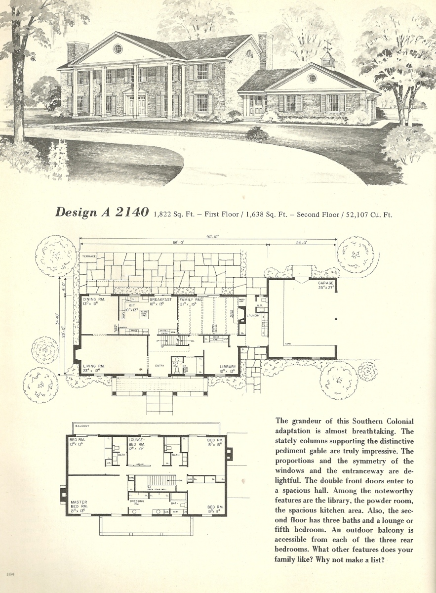 Vintage house plans 2140 antique alter ego Early american home plans