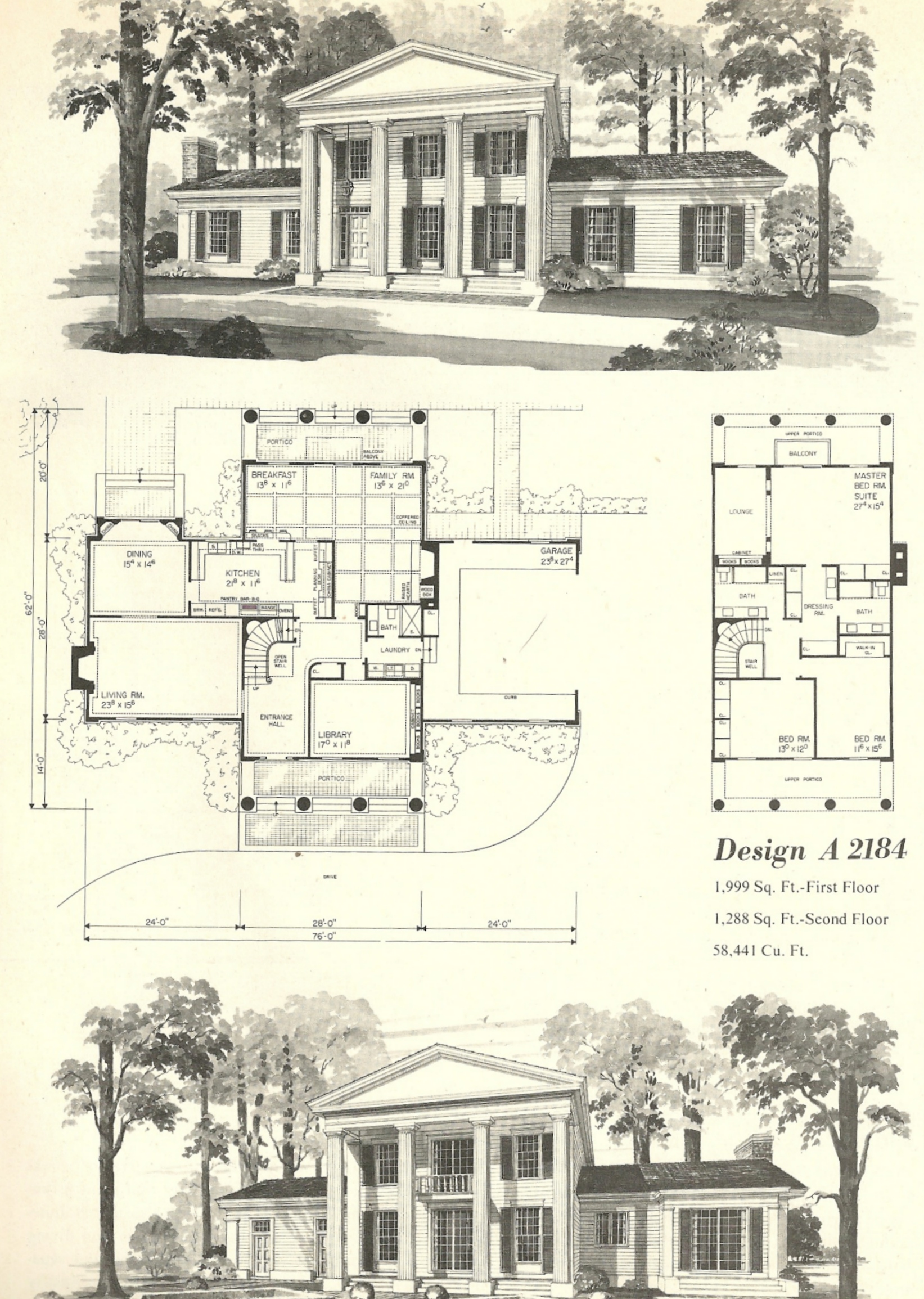 Vintage house plans 1970s early american southern for 1970 home designs