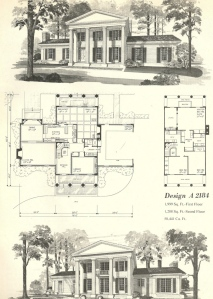 vintage-house-plans-2184  S Colonial House Plan on country colonial house plans, 1960s colonial furniture, 18th century colonial house plans, british colonial house plans, modern colonial house plans,