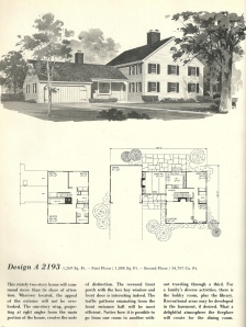 Vintage house plans 1970s early colonial part 1 antique for Columbia flooring melbourne ar