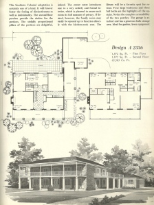 Vintage house plans 1970s early american southern for Retro home designs