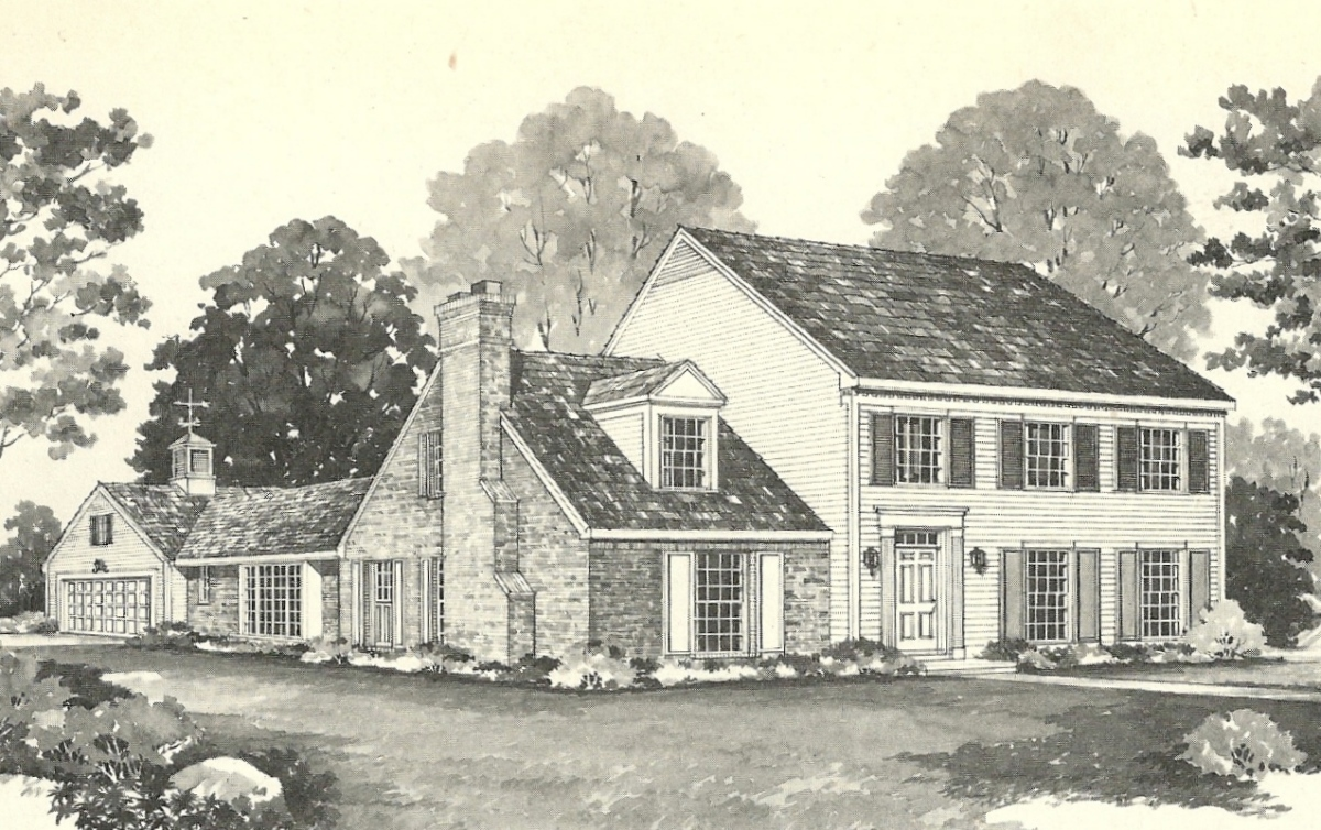 vintage house plans 1970s early colonial part 2 antique alter ego - Vintage Farmhouse Plans